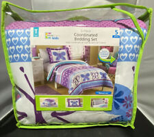 Mainstays Kids Butterfly pattern 5pc Twin Size Bedding set New Bed in Bag