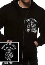 OFFICIAL LICENSED - SONS OF ANARCHY - SAMCRO ZIPPED HOODED SWEATSHIRT HOODIE SOA