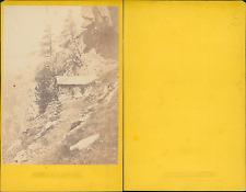 France, Chamonix, le Chapeau Vintage CDV albumen carte de visite,  CDV, tira