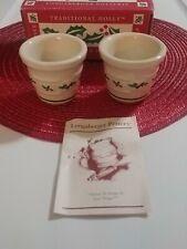 Longaberger Pottery Traditional Holly Votives