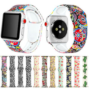 For Apple Watch iWatch 6 5 3 SE Sport Silicone Band Bracelet Watch Strap 42/44mm
