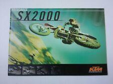 Prospectus Catalogue Brochure Moto KTM Gamme Cross SX 2000