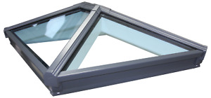 Korniche Roof Lantern Glass Skypod Skylight Grey on White Frame  FREE DELIVERY