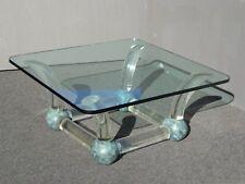 Superbe Vintage Mid Century Modern Coffee Table Lucite Sabre Legs U0026 Turquoise Ball  Feet
