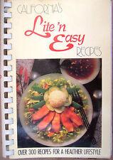 California's Lite'n Easy Recipes Edited by Gerry Murry Henderson RARE OOP