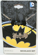 NEW DC Comics Batman & Robin dynamic duo Best Friends BFF Cosplay Necklace Set