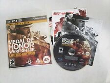 Medal Of Honor Warfighter (PlayStation 3,PS3) Special Edition Complete Free S/H