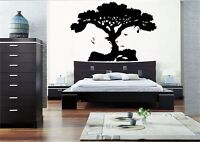 TIGER MONKEY TREE ILLUSION WALL ART STICKER DECAL MURAL BEDROOM VINYL STENCIL