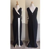 Karl Lagerfeld Women's Sleeveless Maxi Formal DressBlack and White NWT