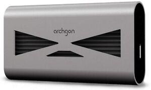 New - archgon USB 3.2 Aluminum External SSD Portable M.2 Gen3x4 NVMe (480GB)