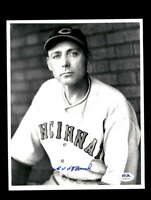 Edd Roush PSA DNA Coa Hand Signed 8x10 Reds Photo Autograph