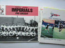 NORTH JERSEY IMPERIALS PRO SOCCER YEAR BOOK & SCHEDULE POSTER 1997 rare