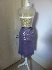 Gorgeous Per Una UK 12 (small 12) BNWT pale purple/lilac sequinned skirt RRP £45