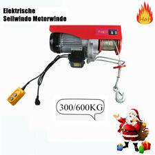 Electric Wire Hoist Winch Crane Lift Garage Hanging Cable Lift 600KG 220V DHL US