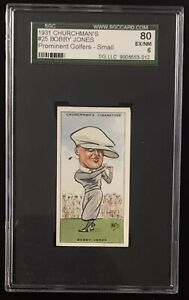 1931 Churchman's BOBBY JONES #25 SGC 6 (80) EX-Mint Prominent Golfers Small Golf