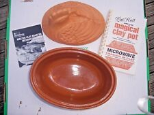 Terra Cotta Clay Chicken Glazed Dutch Oven Roaster,Magical Clay Pot,Instructions