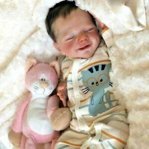 "20"" Lovely Re-born Silicone Body Baby Dolls Simulation Reborn Doll as Birthday"