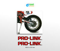 Adesivi forcellone Pro-Link moto enduro stickers pegatinas Pro link Prolink