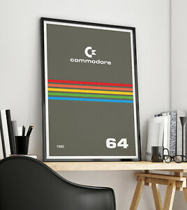 Commodore 64 computer games console Posters Prints A3, A2, A1