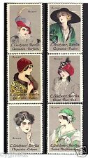 POSTER STAMPS GERMAN LEICHNER COSMETICS & PERFUME SIGNED RUMPF SET OF 6