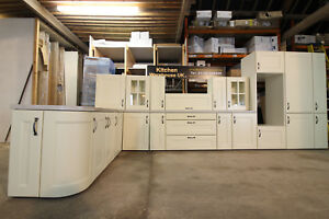 Ex-display NEW COMPLETE Solid wood ivory / cream painted kitchen (18mm cabinets)