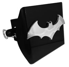 "Batman 3-D Logo Black Trailer Hitch Cover [NEW] Chrome Car Auto 2"" Receiver"