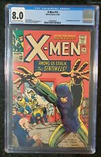 X-Men 14 CGC 8.0 1st APPERANCE OF THE SENTINELS KIRBY COVER - STAN LEE STORY