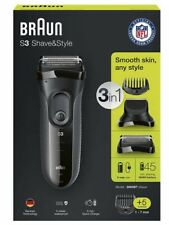 New Braun S3 3000BT Series 3 Wet & Dry Electric 3 in 1 Style & Shaver 2017 Model