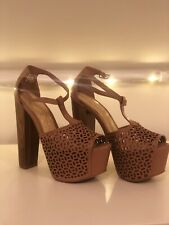 70df839a188 Jessica Simpson Dany Platform Shoes Nude Size UK 3 RRP £70