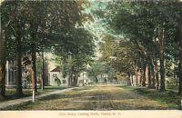 Poland New York~Main Street Looking North~Homes~Stores~Dirt Road~1910 Postcard