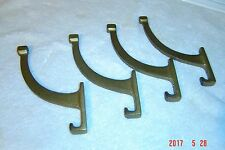 4 LARGE Antique HALL TREE Coat Rack Hooks Craftsman / Mission  Cast iron / Brass