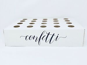 Wedding Confetti Cone Box Tray White Holder   Fits Holds 20 Cones Poppers Pops