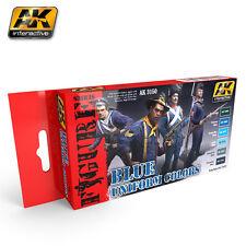 AK Interactive AK 3150 BLUE UNIFORM COLORS Acrylic Paint Set