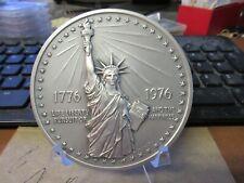 1976 D1976-3d Statue of Liberty/ National Bicentennial US Mint Medal Silver 76mm