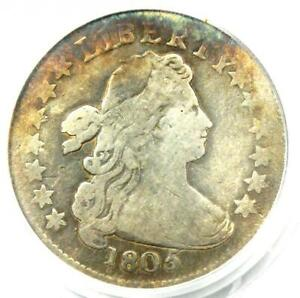 1805 Draped Bust Dime 10C - PCGS Genuine (Plugged) - Rare Coin - Fine Details!