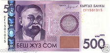 KYRGYZSTAN: Banknote 500 SOM 2016/2017 UNC NEW modification NEW signature