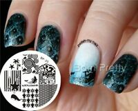 BORN PRETTY Nail Art Image Stamping Plate Stamp Template Ocean Whale Theme BP23