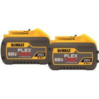 DEWALT DCB609-2 20V / 60V MAX FLEXVOLT 9.0 Ah Battery (2 Pack)