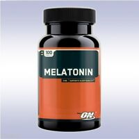 OPTIMUM NUTRITION MELATONIN (100 TABLETS) 3 mg sleeping aid calcium phosphorous