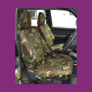 Mitsubishi L200 1996-2006 Green Camo Waterproof Tailored Pair Front Seat Covers