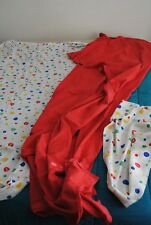 Vintage Colorful Polka Dot Coke Twin flat fitted bed sheets set w/ pillow case