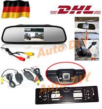 "Funk Auto 4 LED Nachtsicht Nummernschi Rückfahrkamera 170°+ 4.3"" Monitor Spiegel"