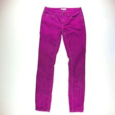 Free People Womens Jeans Size 28 Pants Corduroy Purple Skinny Stretch Fitted EUC