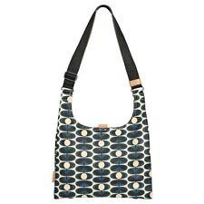 Orla Kiely Flower Oval Midi Sling Bag Indigo Blue
