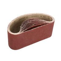 "Sanding Belt 100x610mm for Wood Metal Sander Belts Mixed Grade Grit 4""x24"" 10Pcs"