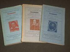 1940-1942 A CATALOGUE OF THE RENAISSANCE PART TWO LOT OF 3 - KD 2099U