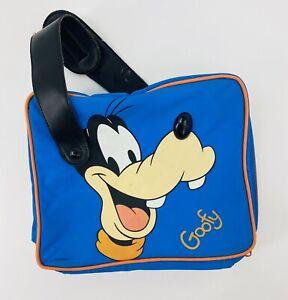 Vintage 90s Disney Goofy Lunch Box Blue Soft Floppy Ear Handles