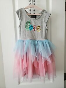 Girls 5T Pink & Violet Tutu Dress, pre-owned