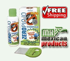 ZeroPiojo, Shampoo Para Piojos Con Peine De Acero Hecho En Mexico