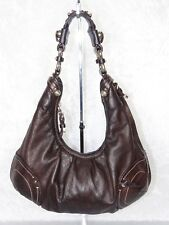 Juicy Couture Hobo Brown & lavender Pebble Leather Shoulder Purse Country Style
